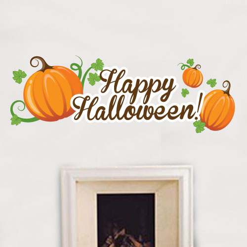 View Product Happy Halloween Country Wall Decal