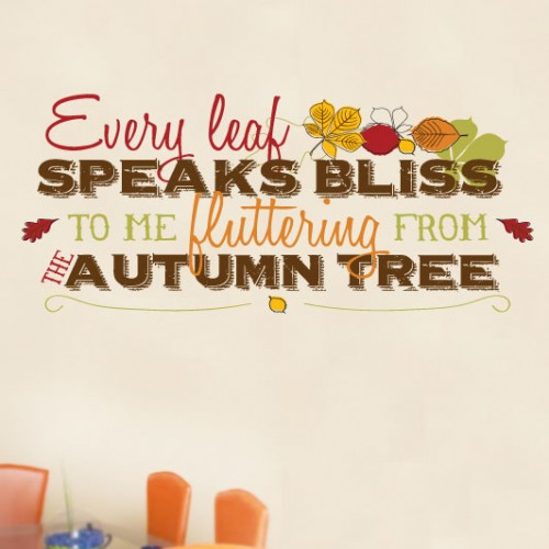 View Product Every Leave Speaks Bliss Wall Decal