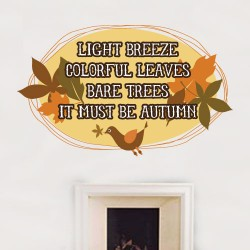 It Must Be Autumn Wall Decal
