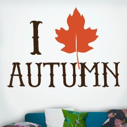 I Leaf Autumn Wall Decal