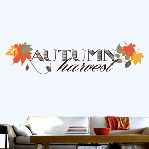 View Product Autumn Harvest Wall Decal