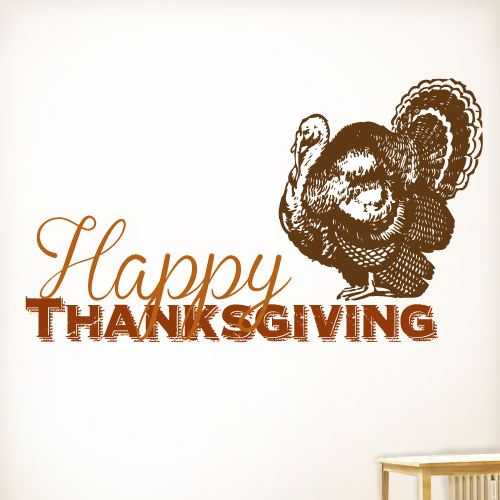 View Product Happy Thanksgiving Wall Decal