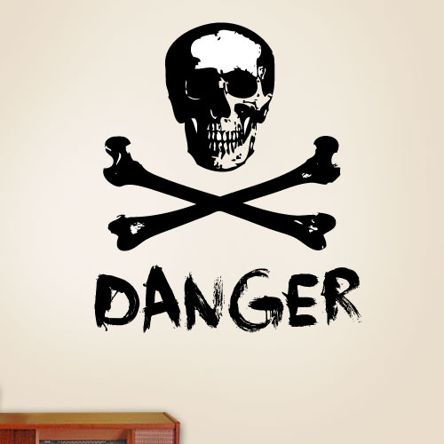 View Product Danger Wall Decal