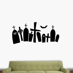 Tomb Stones Wall Decal