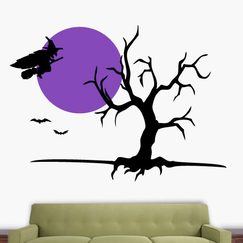 View Product Witch Tree Wall Decal
