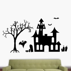 Haunted City Wall Decal