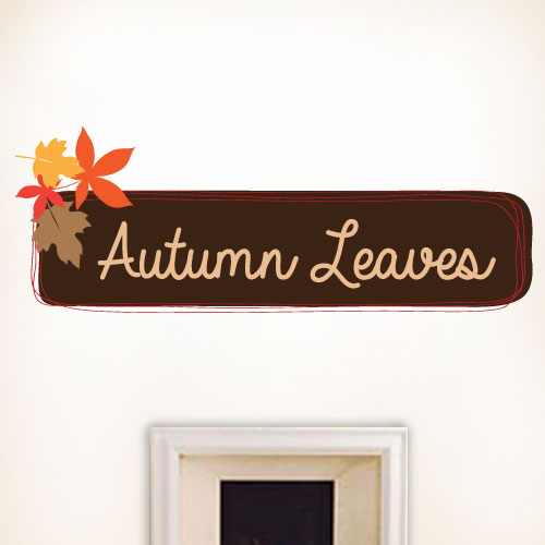 View Product Autumn Leaves Wall Decal
