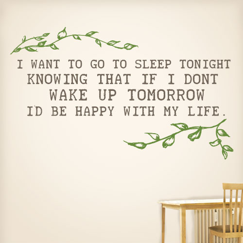 View Product Id be happy with my life Wall Decal