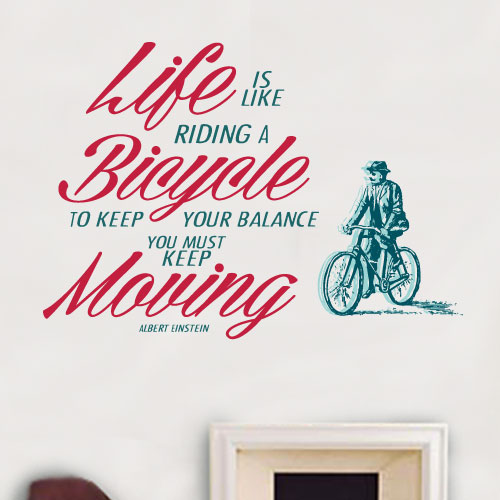 View Product Life is like riding a bicycle Wall Decal