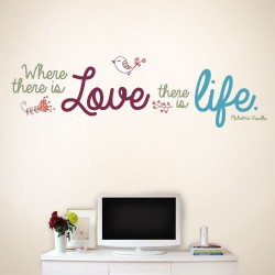 Where There Is Love There Is Love Wall Decal