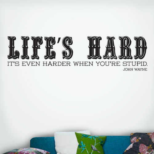 View Product Lifes Hard Wall Decal