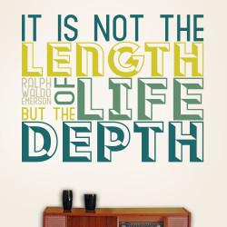 Length of life Wall Decal