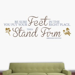 Stand Firm Wall Decal
