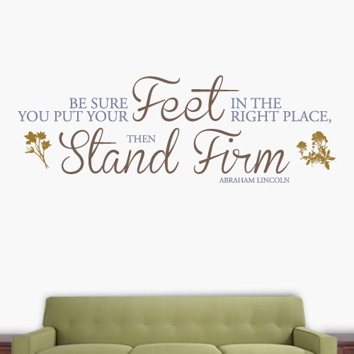 View Product Stand Firm Wall Decal