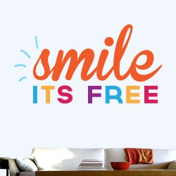 Smile Its Free Wall Decal