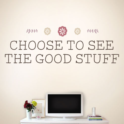 View Product The Good Stuff Wall Decal