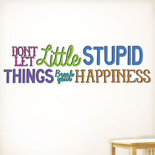 View Product Little Stupid Things Wall Decal