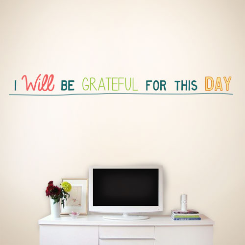 View Product Grateful For This Day Wall Decal