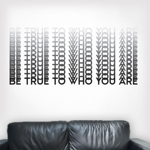 View Product Be True Wall Decal