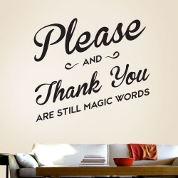 Please And Thank You Wall Decal