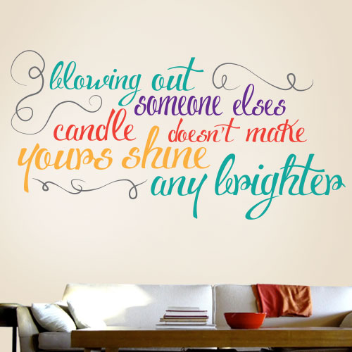 View Product Blowing Out Someone Elses Candle Wall Decal