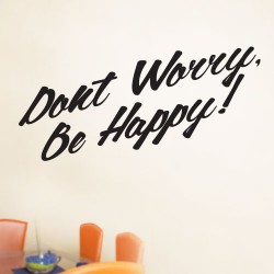 Dont Worry Be Happy Wall Decal