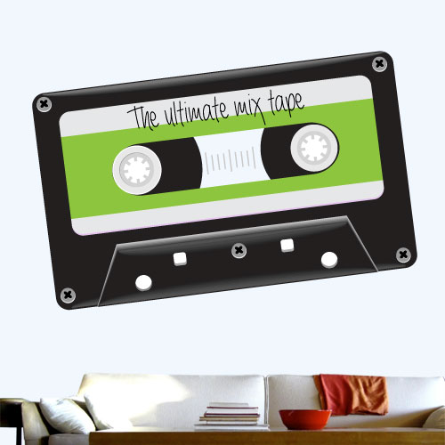 View Product Ultimate Mix Tape Wall Decal