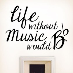 Life Without Music Wall Decal