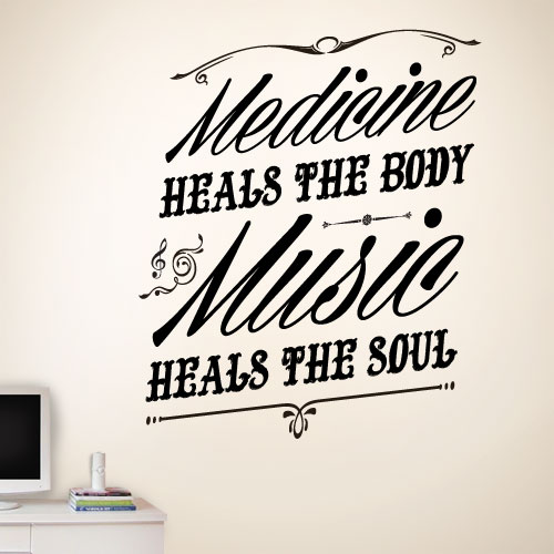 View Product Music Heals The Soul Wall Decal