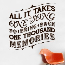 One Thousand Memories Wall Decal