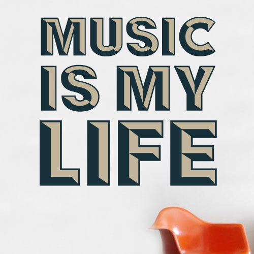 View Product Music Is My Life Wall Decal