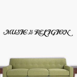 Music Is My Religion Wall Decal