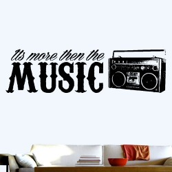 More Then The Music Wall Decal