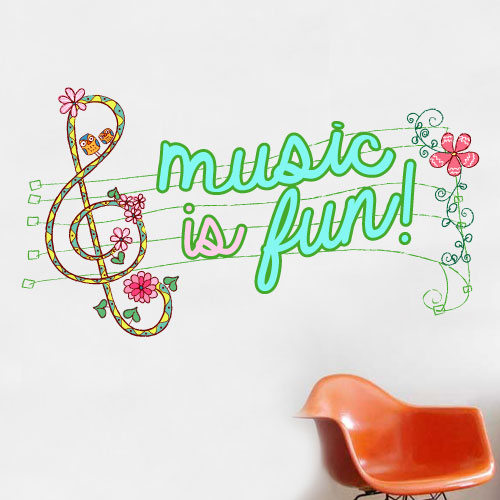 View Product Music Is Fun Wall Decal