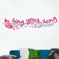 Sing Your Song Wall Decal