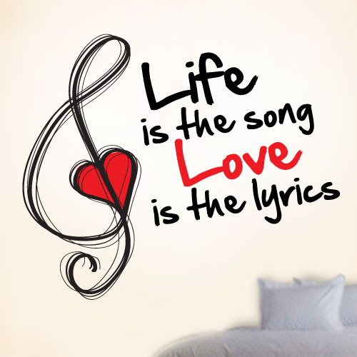 View Product Love Is The Lyrics Wall Decal
