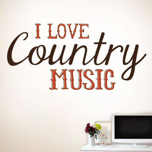 View Product I Love Country Music Wall Decal