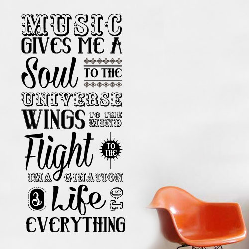 View Product Music Gives Me Soul Wall Decal