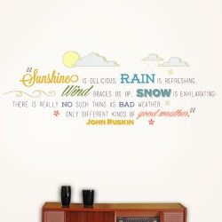 Kinds Of Good Weather Wall Decal