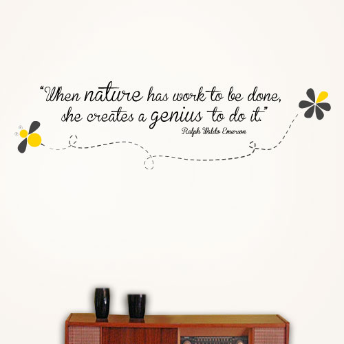 View Product Nature Creates A Genius Wall Decal