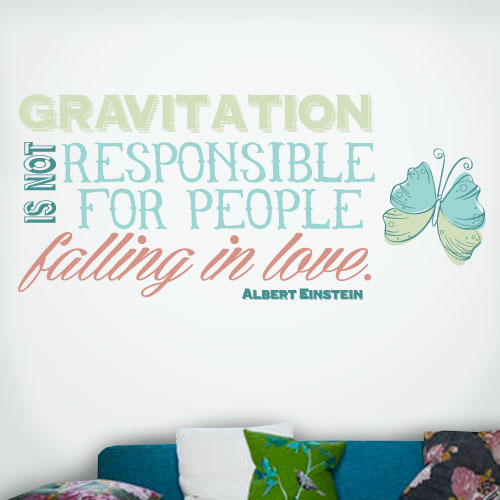 View Product Gravitation Falling In Love Wall Decal