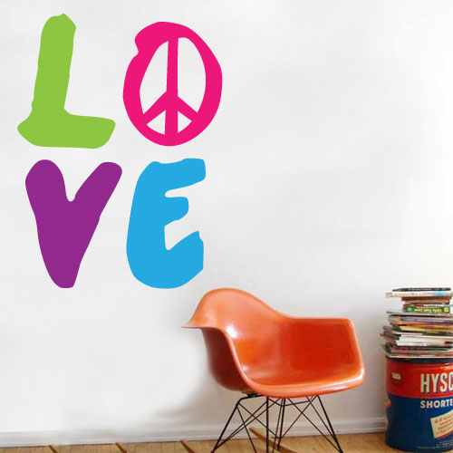 View Product Love Wall Decal