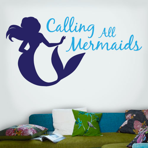View Product Calling All Mermaids Wall Decal