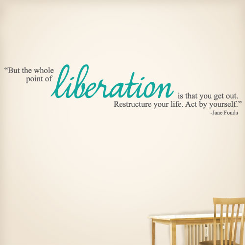 View Product Liberation Wall Decal