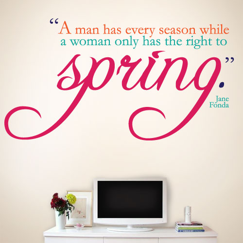 View Product Women Have Spring Wall Decal