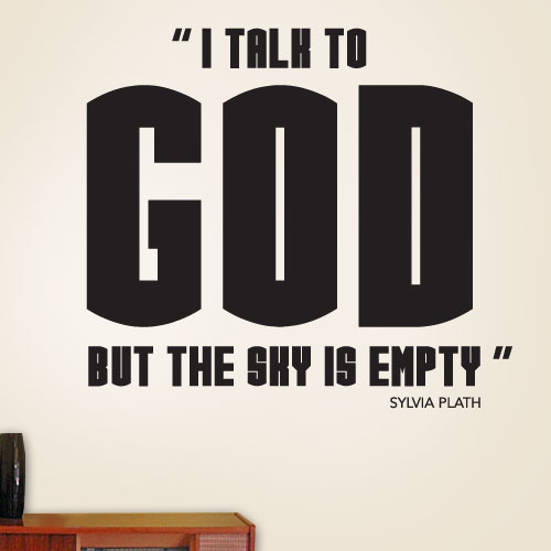 View Product I Talk To God Wall Decal