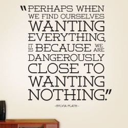Wanting Everything Wanting Nothing Wall Decal