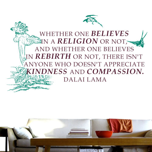 View Product Appreciate Kindness and Compassion Wall Decal