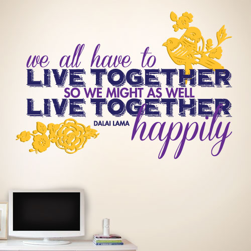 View Product Live Together Happily Wall Decal