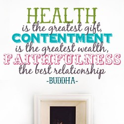 Health Is The Gift Wall Decal